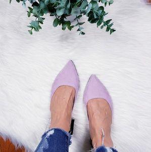 Express lilac slingback flats sandals NWT